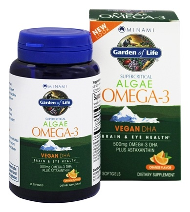 Buy Minami Nutrition - Garden of Life Algae Omega-3 Vegan DHA Orange ...
