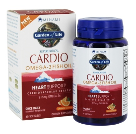 DROPPED: Minami Nutrition - CardiO-3 90% Highest Omega-3 Healthy Heart Formula Orange 900 mg. - 60 Softgels