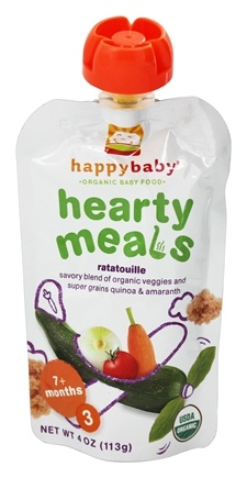 HappyFamily - Organic Baby Food Stage 3 Meals Ages 7+ Months Amaranth Ratatouille - 4 oz.