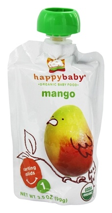 DROPPED: HappyFamily - Organic Baby Food Stage 1 Meals Mango - 3.5 oz. CLEARANCE PRICED