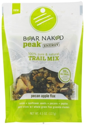 DROPPED: Bear Naked - Peak Energy Trail Mix 100% Pure & Natural Pecan Apple Flax - 4.5 oz.