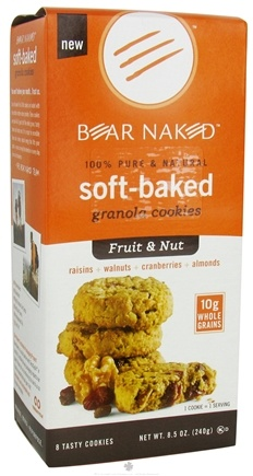 DROPPED: Bear Naked - Soft-Baked Granola Cookies 100% Pure & Natural Fruit & Nut - 8.5 oz.