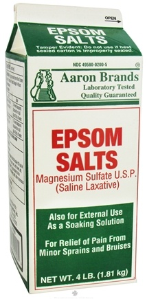 DROPPED: Aaron Industries - Epsom Salts Magnesium Sulfate - 4 lbs.