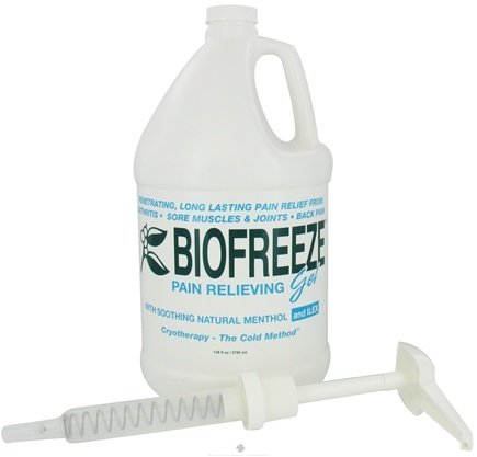 DROPPED: BioFreeze - Pain Relieving Gel with Pump 1 Gallon - 128 oz. CLEARANCE PRICED