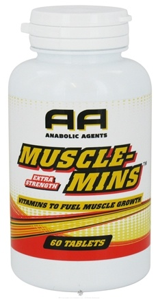 DROPPED: Anabolic Agents - Muscle-Mins Vitamins To Fuel Muscle Growth Extra Strength - 60 Tablets CLEARANCE PRICED