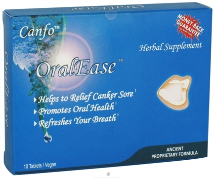DROPPED: Canfo Natural Products - OralEase Canker Sore Relief - 10 Tablets CLEARANCE PRICED