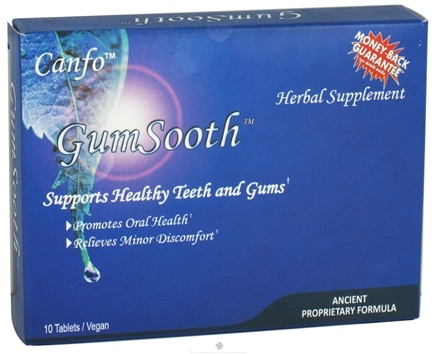 DROPPED: Canfo Natural Products - GumSooth Oral Health - 10 Tablets CLEARANCE PRICED