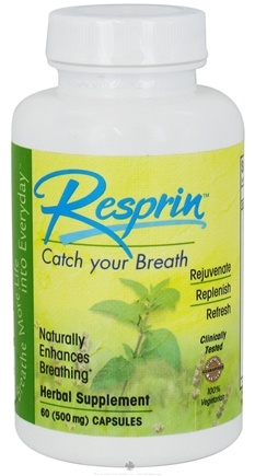 DROPPED: NU Century Herbs - Resprin Natural Breathing Enhancement 500 mg. - 60 Capsules