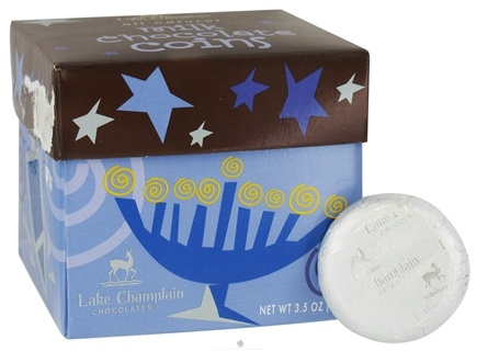 DROPPED: Lake Champlain Chocolates - UNPUBLISHED All Natural Milk Chocolate Hanukkah Coins - 3.5 oz.