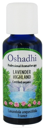 DROPPED: Oshadhi - Professional Aromatherapy Organic Highland Lavender Essential Oil - 30 ml. CLEARANCE PRICED
