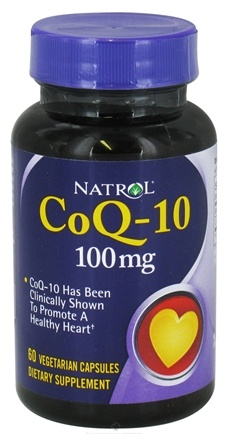 DROPPED: Natrol - CoQ-10 100 mg. - 60 Vegetarian Capsules CLEARANCE PRICED