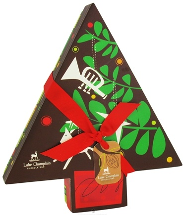 DROPPED: Lake Champlain Chocolates - All Natural Assorted Chocolate Truffles Christmas Holiday Tree 11 Pieces - 9.6 oz. UNPUBLISHED - HOLIDAY CLEARANCE