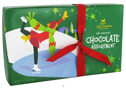 DROPPED: Lake Champlain Chocolates - UNPUBLISHED All Natural Chocolate Assortment Holiday Christmas Box 15 Pieces - 9.7 oz.