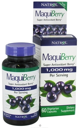 DROPPED: Natrol - MaquiBerry Super Antioxidant Berry 1000 mg. - 60 Vegetarian Capsules