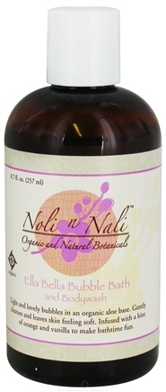 DROPPED: Noli n Nali Organics - Bubble Bath and Bodywash Ella Bella - 8.7 oz. CLEARANCE PRICED