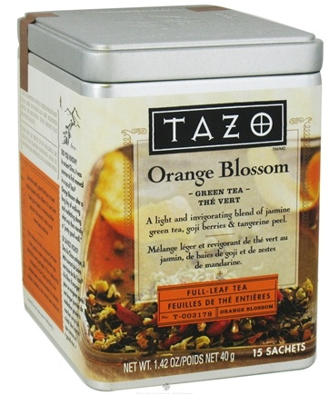 DROPPED: Tazo - Green Tea Full Leaf Tea Orange Blossom - 15 Bags