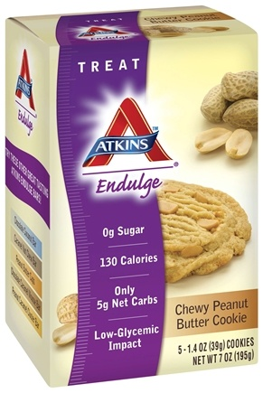 DROPPED: Atkins Nutritionals Inc. - Endulge Cookies Chewy Peanut Butter - 5 Pack