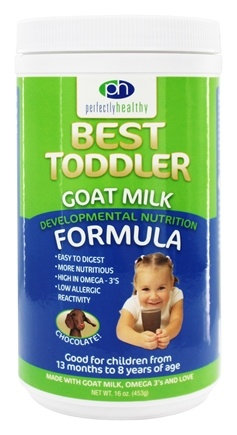 DROPPED: Perfectly Healthy - Best Toddler Goat Milk Developmental Nutrition Formula Chocolate - 16 oz.