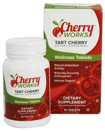 DROPPED: Cherry Works - Wellness Tablets Created by Michelle's Miracle Tart Cherry - 60 Tablets