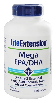Zoom View - Mega EPA/DHA Omega-3 Essential Fatty Acid Formula From Fish Oil Concentrate