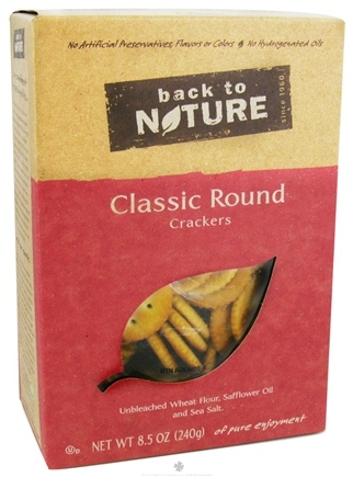 DROPPED: Back To Nature - Crackers Classic Round - 8.5 oz.