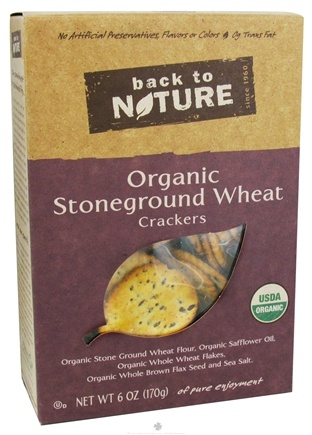 DROPPED: Back To Nature - Crackers Organic Stoneground Wheat - 6 oz.