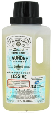 DROPPED: JR Watkins - Natural Home Care Laundry Detergent Ultra Concentrated Fragrance Free - 32 oz.