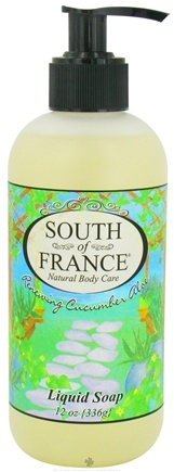 DROPPED: South of France - Liquid Soap Renewing Cucumber Aloe - 12 oz.