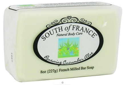 DROPPED: South of France - French Milled Vegetable Bar Soap Renewing Cucumber Aloe - 8 oz.