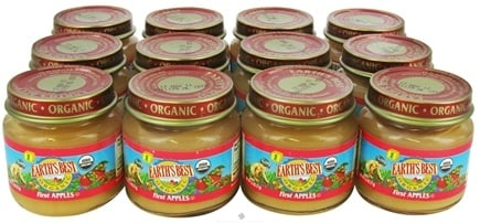 DROPPED: Earth's Best - Organic Baby Food Stage 1 First Apples 12 x 2.5 oz. Jars - 1 Case CLEARANCE PRICED