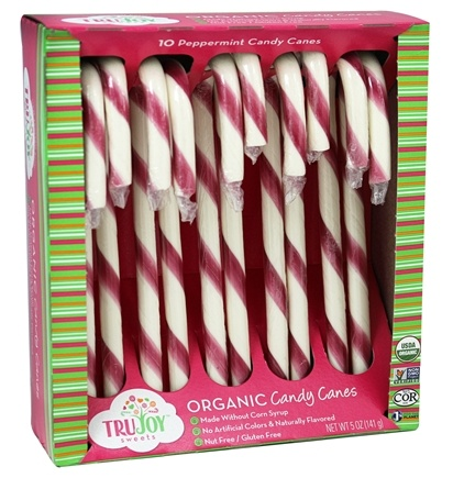 DROPPED: Tru Joy - Organic Candy Canes Peppermint - 10 Piece(s)