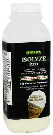 DROPPED: Species Nutrition - Isolyze RTD Whey Protein Isolate Vanilla Ice Cream - 2 oz.