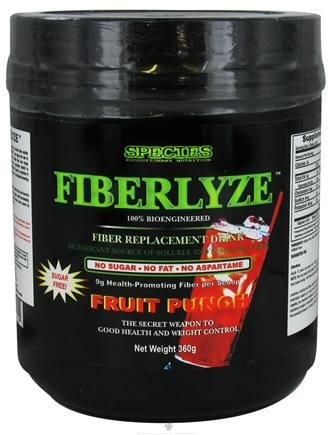 DROPPED: Species Nutrition - Fiberlyze Fiber Replacement Drink Fruit Punch - 360 Grams CLEARANCE PRICED