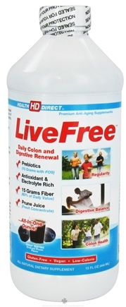 DROPPED: Health Direct - Live Free Daily Colon and Digestive Renewal Orchard Prune - 15 oz. CLEARANCE PRICED