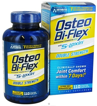 DROPPED: Osteo Bi-Flex - Joint Shield Formula With 5-Loxin Double Strength - 110 Caplets CLEARANCE PRICED
