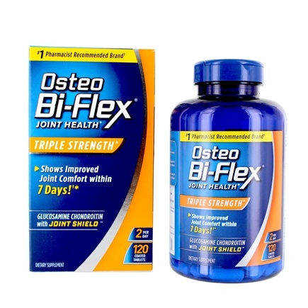 Osteo Bi-Flex - Triple Strength Joint Shield Plus Glucosamine & Chondroitin - 120 Caplets