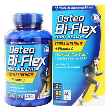 Osteo Bi-Flex - Joint Shield Formula With 5-Loxin Triple Strength With Vitamin D3 2000 IU - 80 Caplets