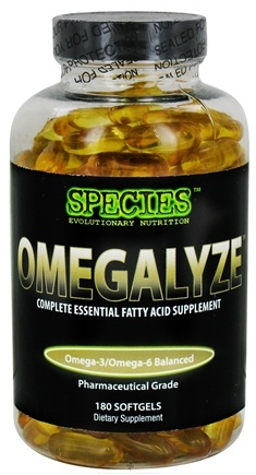 DROPPED: Species Nutrition - Omegalyze Complete Essential Fatty Acid Supplement Pharmaceutical Grade - 180 Softgels CLEARANCE PRICED