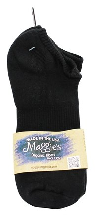 Maggie's Organics - Socks Cotton Footie Size 9-11 Black - 1 Pair