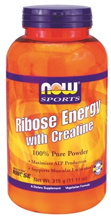 DROPPED: NOW Foods - Ribose Energy with Creatine 100% Pure Powder - 11.11 oz. CLEARANCE PRICED