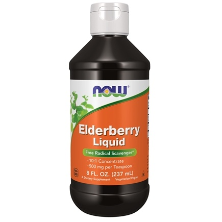 NOW Foods - Elderberry Liquid 500 mg. - 8 oz.