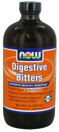 DROPPED: NOW Foods - Digestive Bitters Natural Liquid Herbal Extract Blend - 16 oz.