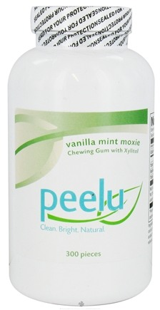 DROPPED: Peelu - Chewing Gum with Xylitol Vanilla Mint Moxie - 300 Piece(s)