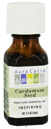 DROPPED: Aura Cacia - Essential Oil Inspiring Cardamom Seed - 0.5 oz. CLEARANCE PRICED