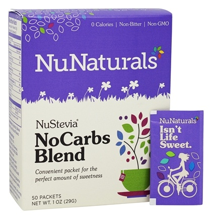 NuNaturals - NuStevia NoCarbs Blend - 50 Packet(s)