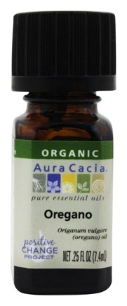 Aura Cacia - Essential Oil Organic Oregano - 0.25 oz.