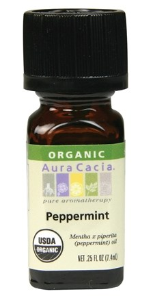 DROPPED: Aura Cacia - Essential Oil Organic Peppermint - 0.25 oz. CLEARANCE PRICED