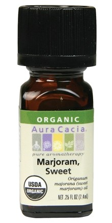 DROPPED: Aura Cacia - Essential Oil Organic Sweet Marjoram - 0.25 oz. CLEARANCE PRICED