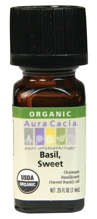 DROPPED: Aura Cacia - Essential Oil Organic Sweet Basil - 0.25 oz. CLEARANCE PRICED