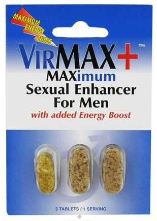 DROPPED: VirMax - Plus Maximum Sexual Enhancer For Men With Added Energy Boost - 3 Tablets